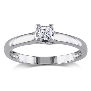 Miadora 14k Gold 1/4ct TDW IGL Certified Diamond Solitaire Engagement Ring (G-H, I1-I2)