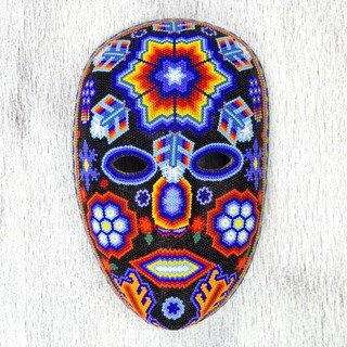 Beadwork 'Star Man' Mask (Mexico)