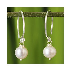 Pearl 'Snow Queen' Earrings (Thailand)