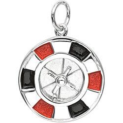 Sterling Silver Enamel Roulette Charm