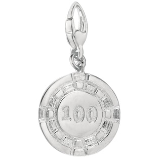 Sterling Silver 100 Poker Chip Charm