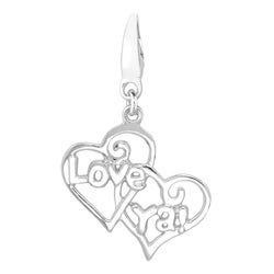 Sterling Silver 'Love Ya' Heart Charm