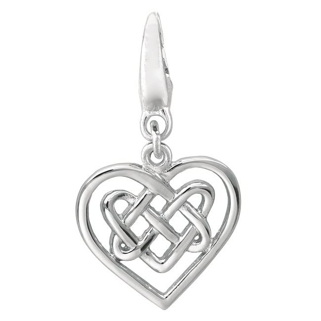 Sterling Silver 'Celtic Knot Heart' Charm