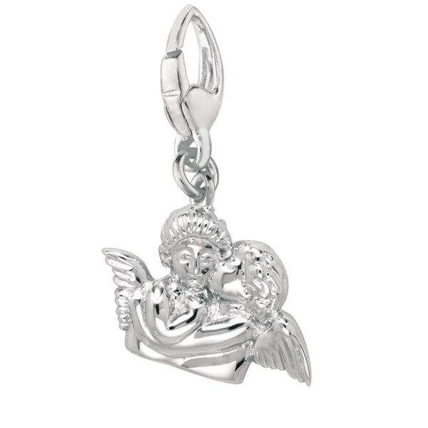 Sterling Silver Two Angels Charm