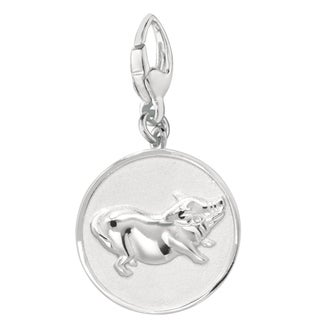 Sterling Silver Pig Charm