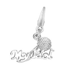 Sterling Silver 'My Idol' Microphone Charm