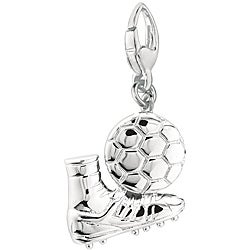 Sterling Silver 'Sneaker and Soccer Ball' Charm