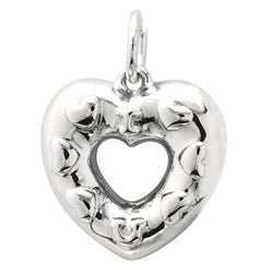 Sterling Silver Multi Hearts Charm