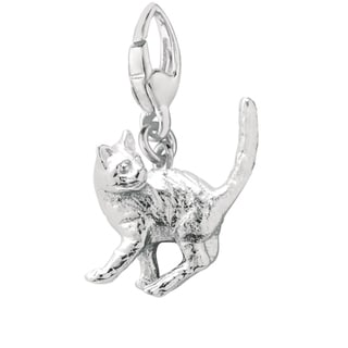 Sterling Silver British Shorthair Cat Charm