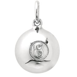Sterling Silver 'Eight Ball' Charm