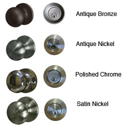 Sure-Loc Mushroom-shaped Entry Door Knob with Keyed Alike Deadbolt