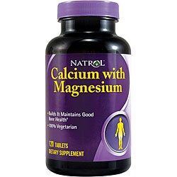 Natrol Calcium and Magnesium 120-tablet Bottles (Pack of 3)