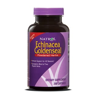 Natrol Echinacea GoldenSeal Capsules (Pack of 2 200-count Bottles)