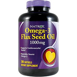 Natrol Flax Seed Oil 1000mg 200-tablet Bottles (Pack of 2)