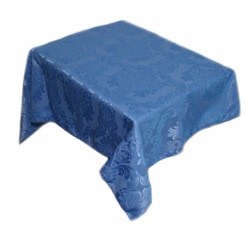 Caprice Periwinkle Damask Table Cloth