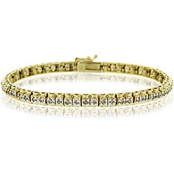 DB Designs 18k Goldplated Silver 1ct TDW Diamond Tennis Bracelet (I-J, I3)