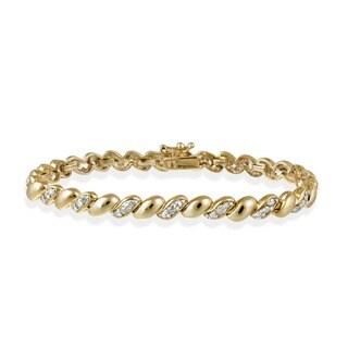 DB Designs 18k Goldplated 1ct TDW Diamond San Marco Bracelet (I-J, I3)
