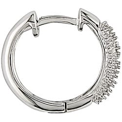 Miadora 14k Gold 1/10ct TDW Diamond Hoop-style Earrings (HI, I1-I2)