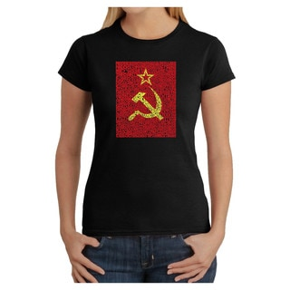 Los Angeles Pop Art Women's Soviet Flag T-shirt
