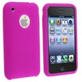 Textured Bright Pink Silicone Skin Case for Apple iPhone