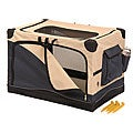 Precision Pet Navy/ Tan Softside Pet Crate