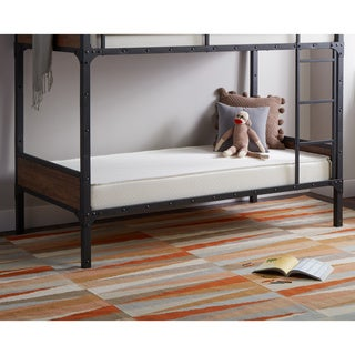 Select Luxury Reversible 6-inch White Bunk Bed Twin-size Foam Mattress (Pack of 2)