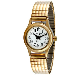 Timetech Women's Shock-Resistant Goldtone Expansion Watch