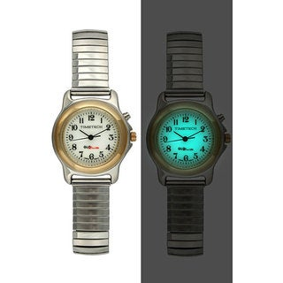 Timetech Women's Glo-brite Dial Silvertone Expansion Watch