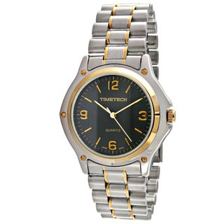 Timetech Men's Round Two-tone Bracelet Watch
