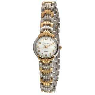 Timetech Women's Round Two-tone Bracelet Watch