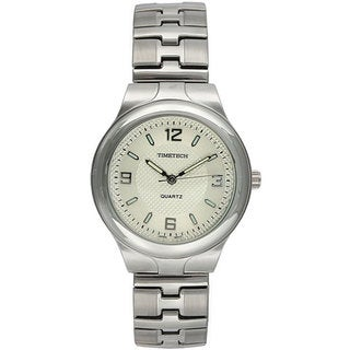 Timetech Men's Silvertone Bracelet Watch