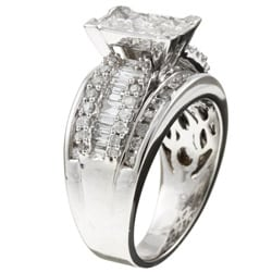 14k White Gold 2ct TDW Contemporary Diamond Engagement Ring (H, I1)