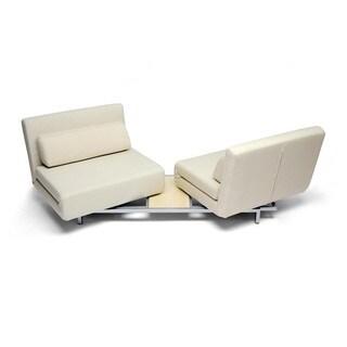 Annabel Cream Convertible Sofa Bed Futon Overstock