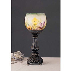 Hand-painted Pansy Candleholder Table Accent