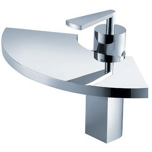 Fluid Fan Single-handle Chrome Bathroom Faucet