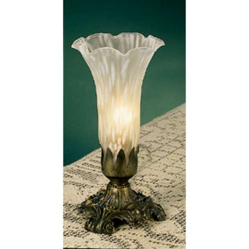 White 8-inch Buffet Lamp