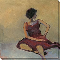 Gallery Direct Kim Coulter 'Girl In Red Dress' Canvas Art