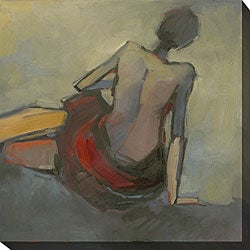 Kim Coulter 'Lady in Red II' Giclee Canvas Art