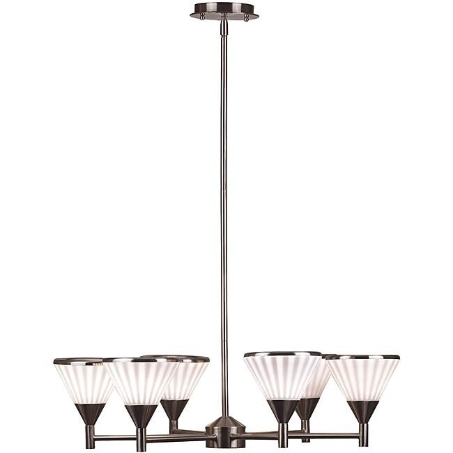 Brushed Steel 6-light 'Silhouette' Chandelier