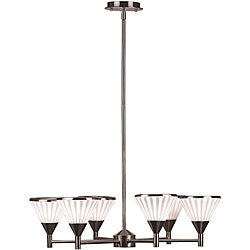 Brushed Steel 6-light 'Silhouette' Chandelier