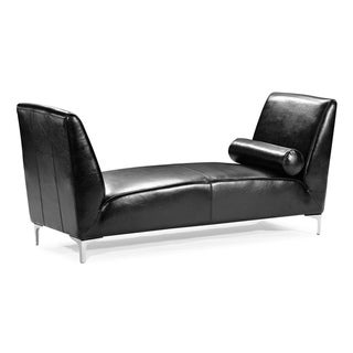 Black Leather Tatin Bench