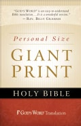 Holy Bible: God's Word, Personal Size, Giant Print Bible (Paperback)