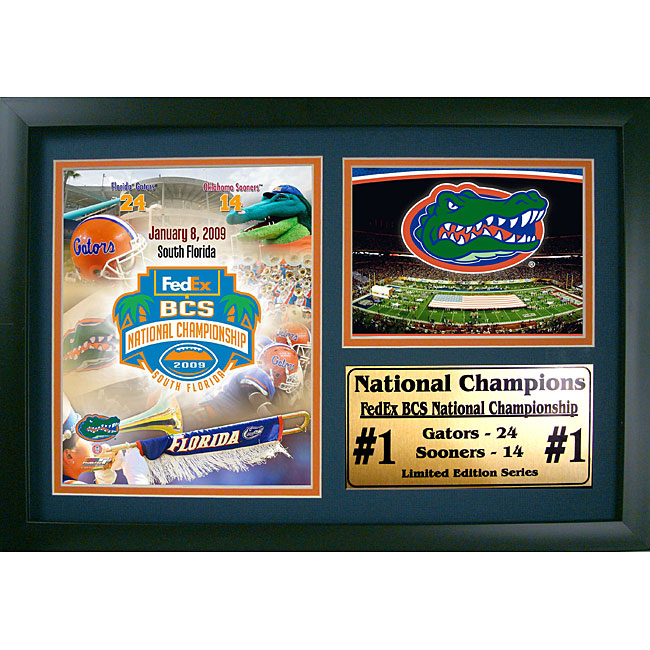 Florida Gators 2008 Champions 12x18 Framed Print with Photo
