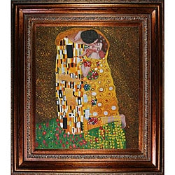 Gustav Klimt 'The Kiss' Framed Art