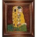 Gustav Klimt 'The Kiss' Framed Art