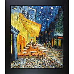 Van Gogh 'Cafe Terrace at Night' Framed Art