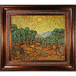 Van Gogh 'Olive Trees with Yellow Sun and Sky' Art