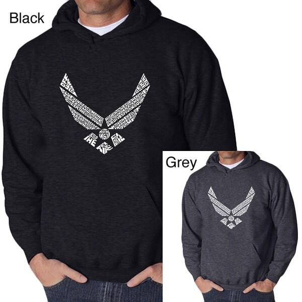 Los Angeles Pop Art Men's Air Force Hooded Sweatshirt