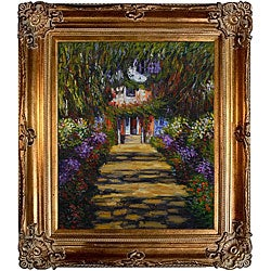 Monet 'Garden Path at Giverny' Canvas Art Oil Painting
