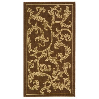 Indoor/ Outdoor Mayaguana Brown/ Natural Rug (2' x 3'7)